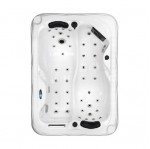 twin spa plug and play hot tub white shell top view