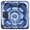 aurora 7 person hot tub blue shell top view