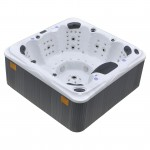 aurora hot tub white shell side view